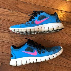 Nike Free 5.0 Girls 6Y Sneakers